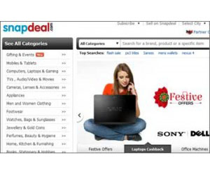 Snapdeal.Com is Indian online shopping website head-quartered in New Delhi.